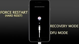iPhone 8/8 Plus + iPhone X/XS/XR- How to Force Restart(hard reset) enter/exit recovery and DFU mode