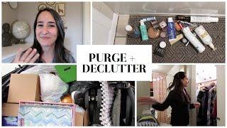PURGE + DECLUTTER MOTIVATION | Clothes, Bath, Picture Frames!