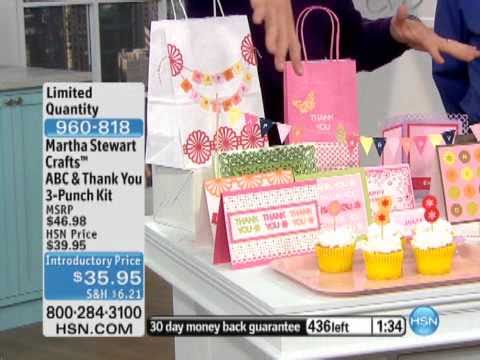 Martha Stewart Crafts ABC & Thank You 3-Punch Kit