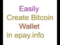 create bitcoin wallet account in to epay