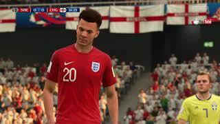 Svezia vs Inghilterra Quarti Mondiali Russia 2018 del 07 Luglio 2018 giocato a Fifa 18 Playstation 4
