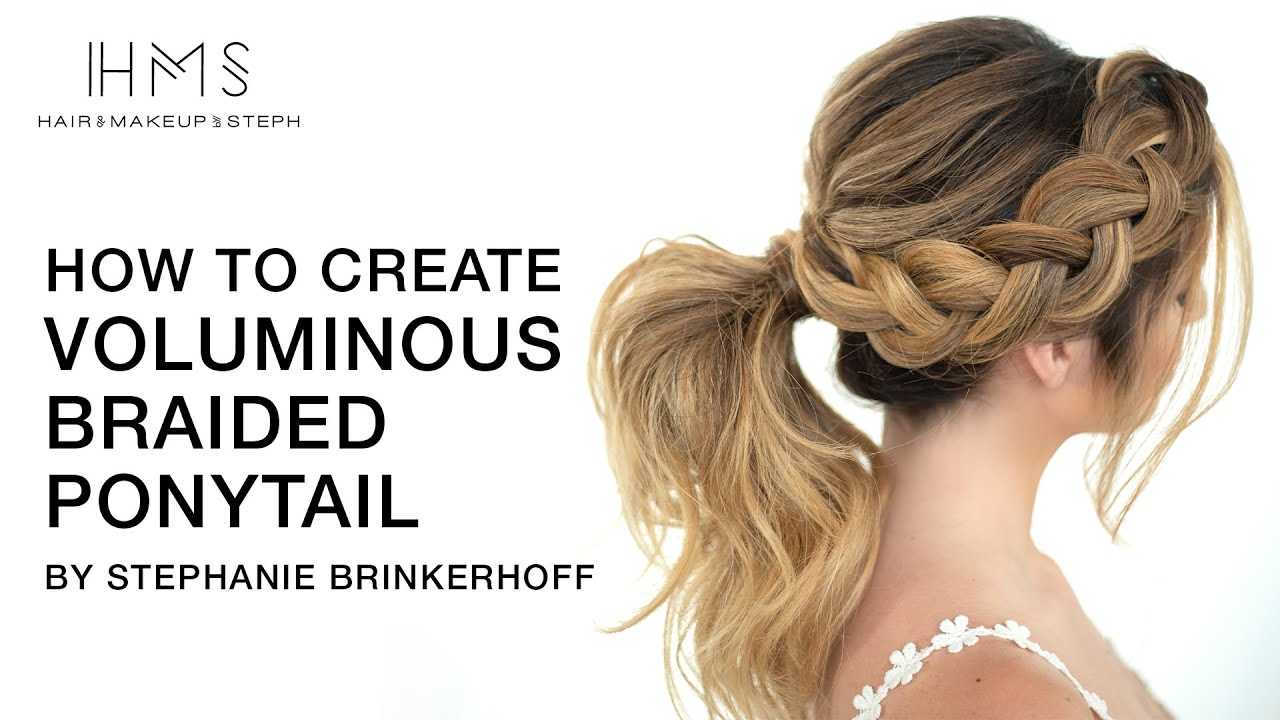 How To Create Voluminous Braided Ponytail by Stephanie Brinkerhoff | Kenra Professional