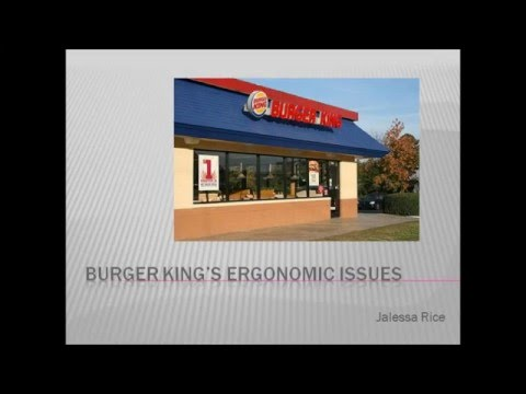 Ergonomic Issues at Burger King
