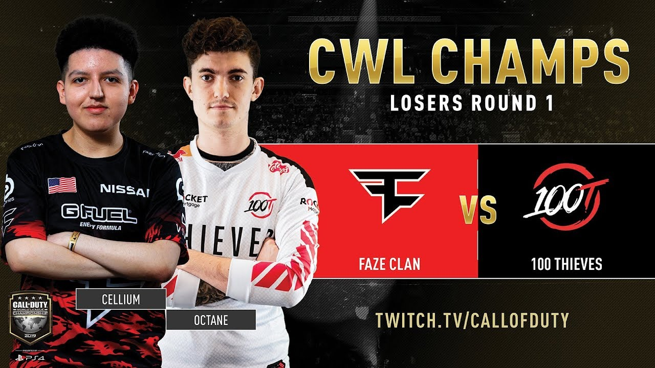 Faze Clan vs 100 Thieves | CWL Champs 2019 | Day 3