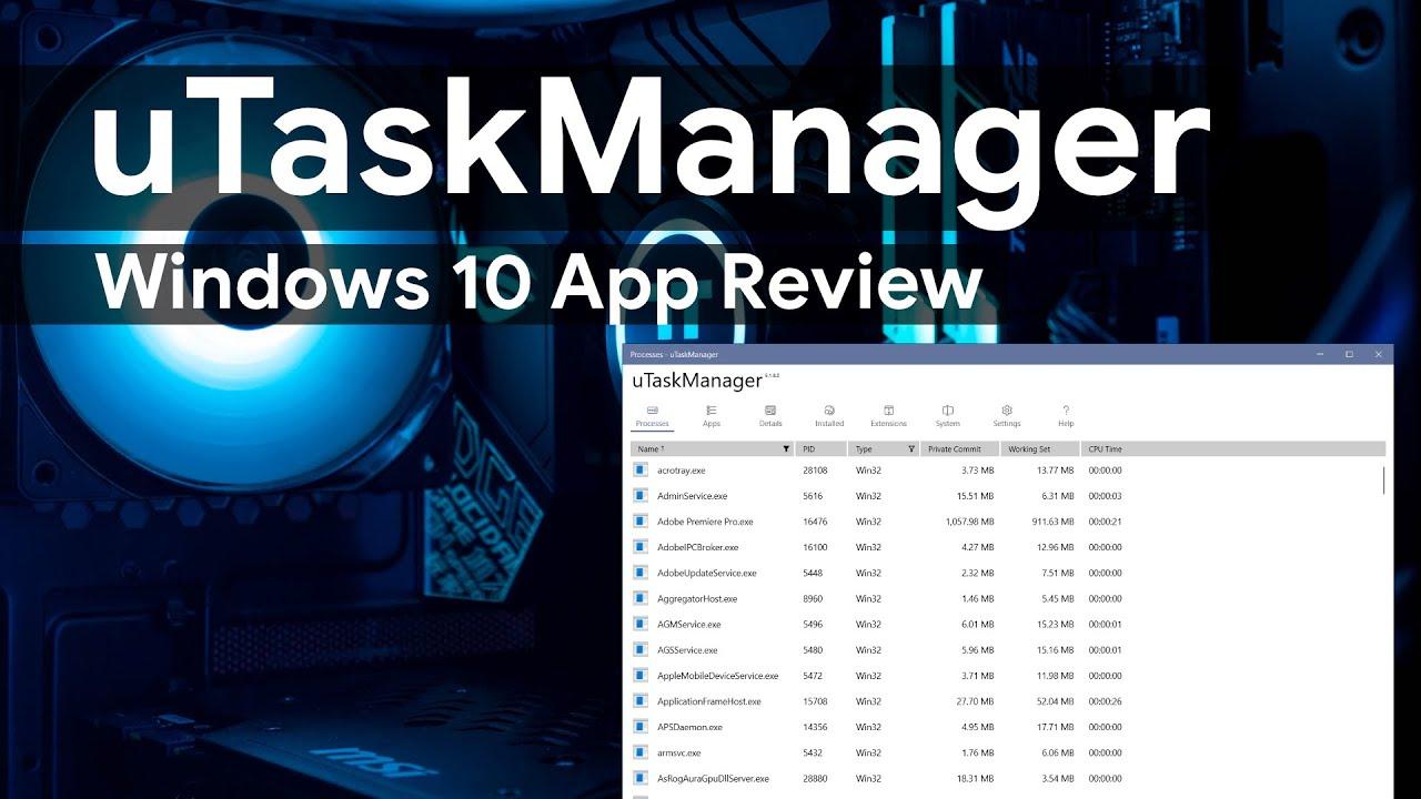 uTaskManager [Windows 10] App Review