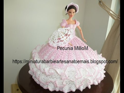 crochet barbie bed doll bed pillow replica of miss april 1991 by pecunia milliom