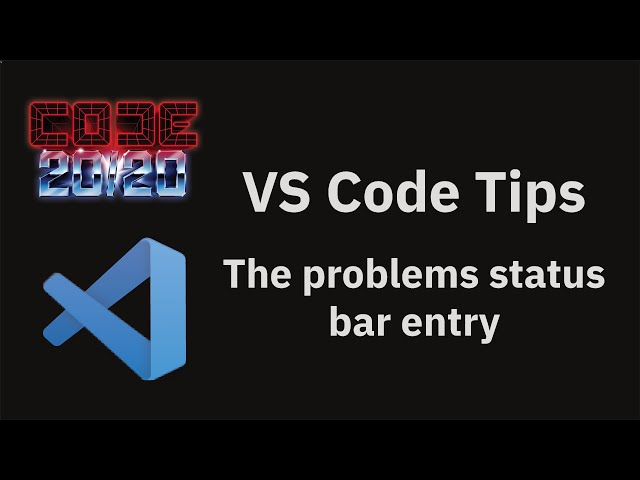 The problems status bar entry