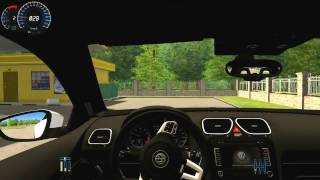 MAKAS ÖYLE DEGİL BÖYLE ATILIR=City Car Driving [CCD] +Volkswagen Scirocco +Logitech Driving Force GT