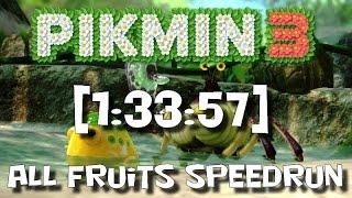 "*OLD* Pikmin 3 - All Fruits SS Speedrun 1:33:57 (""100%"")"