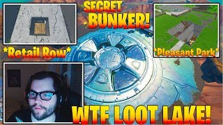 *NEW* Secret Bunker in Fortnite at LOOT LAKE, PLEASANT PARK, and RETAIL! Update 8.40