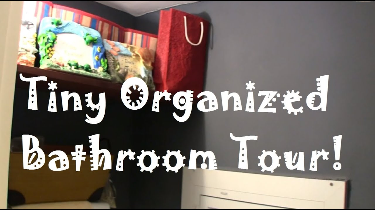 How To Organize A Small Bathroom how to organize a tiny bathroom: find lots of storage space! - youtube