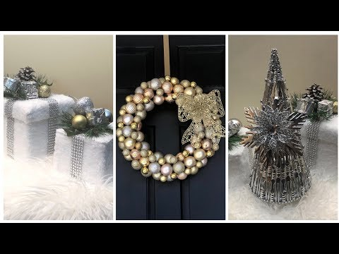 Dollar Tree DIY || 💕 2018 Christmas Glam Home Decor 💕