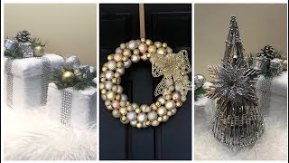 Dollar Tree DIY || Christmas Glam Home Decor