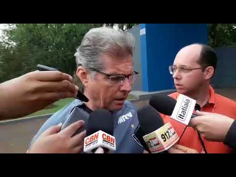 Entrevista Oswaldo de Oliveira antes do jogo contra o Londrina
