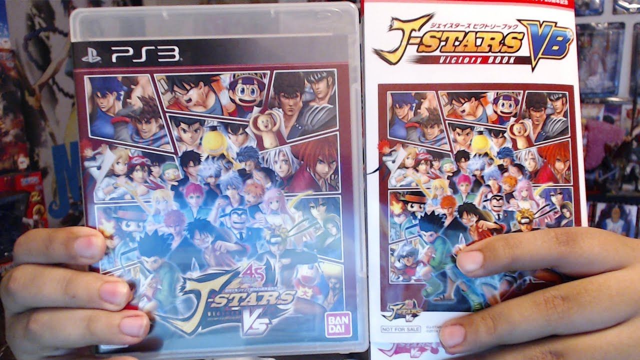 A Game That Starts With A Ps3 : J stars victory vs ps game unboxing book