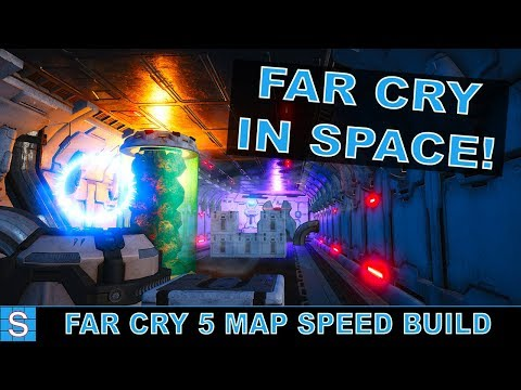 BUILDING A SPACE STATION | Far Cry 5 Custom Map Speed Build | Rogue Station (Part 1: Build)