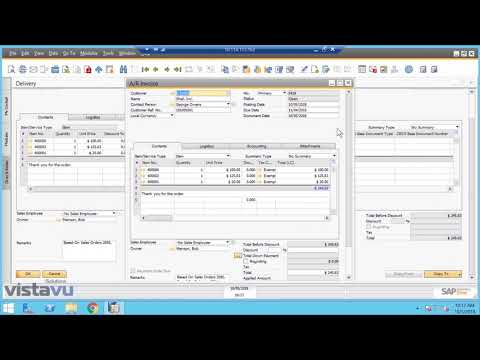 SAP Business One Sales Order Process Order to Cash