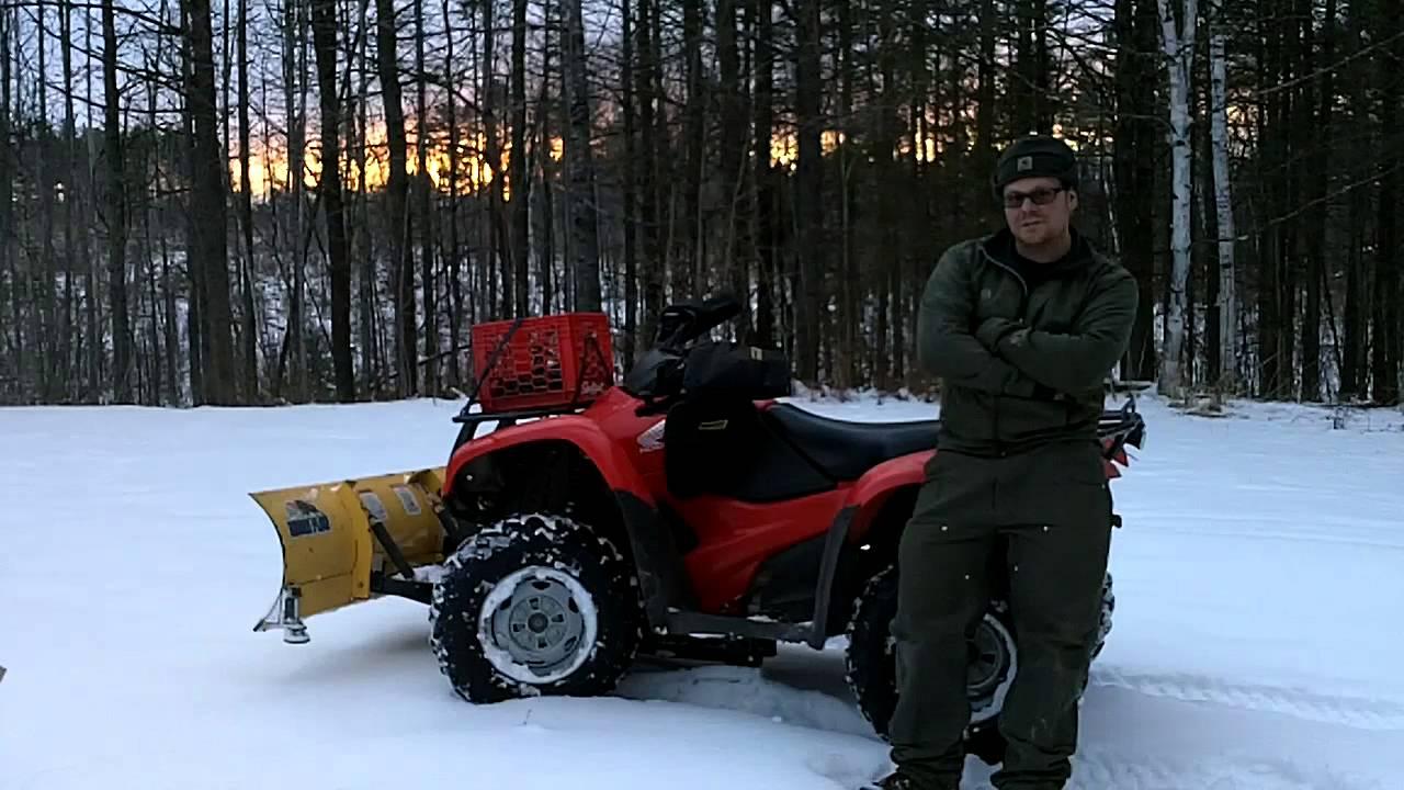 Honda Rancher 420 >> Honda Rancher 420 Snow plowing final thoughts - YouTube