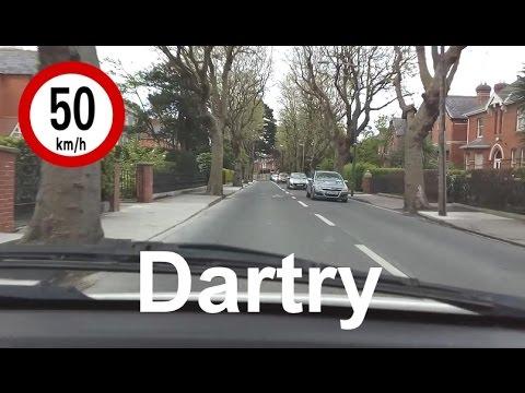 Dash Cam Ireland - Churchtown Road to Orwell Park in Dartry, Dublin