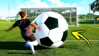 CROSSBAR CHALLENGE WITH A BIG BALL