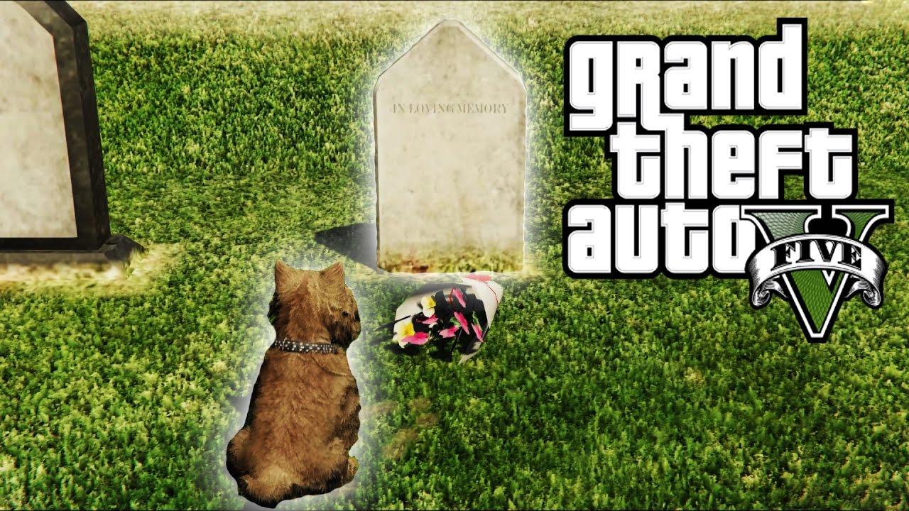 GTA 5: Dog Visits Owner's Grave Easter Egg! (GTA 5 East ...