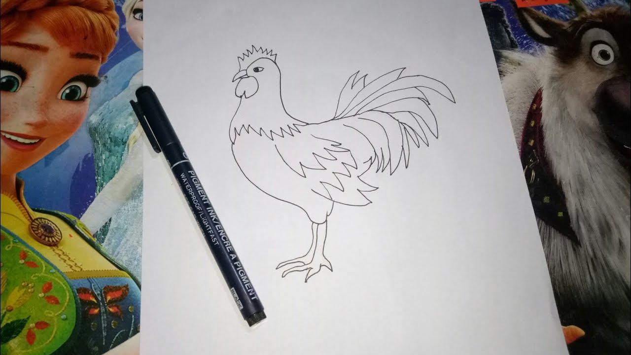 Melukis Ayam Jago