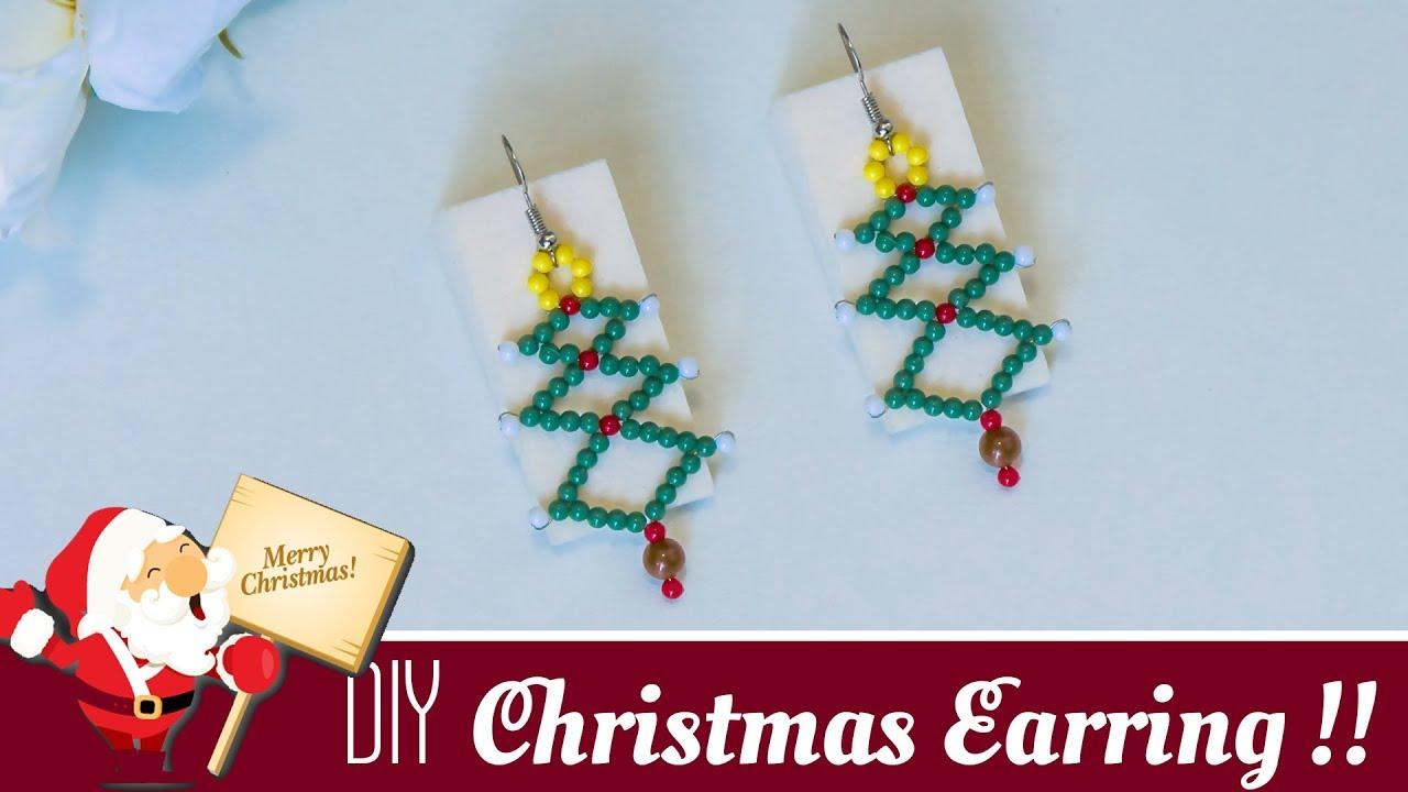 How To Make Christmas Tree Earrings Festival Jewelry YouTube - Make Christmas Tree Earrings