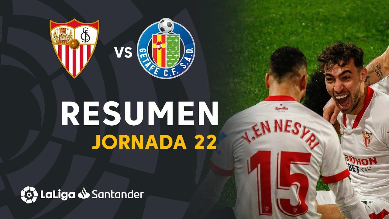 Resumen de Sevilla FC vs Getafe CF (3-0)