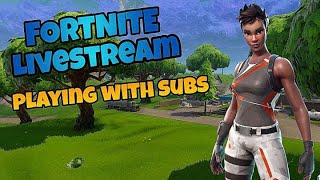 Playing With Subs // V-Bucks Giveway @ Sub Goals // PS4 Fortnite Live