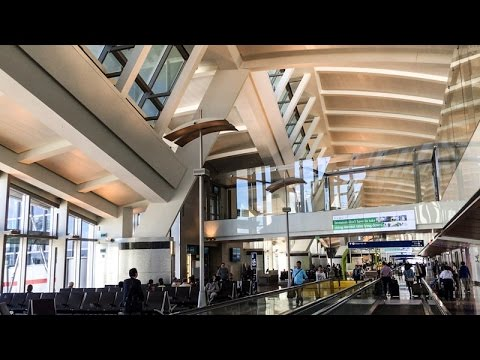 Inside Tom Bradley International Terminal at LAX in Los Angeles, California