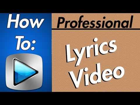 How To: Make A GOOD Lyric Music Video In Sony Vegas (Voice!) 2017
