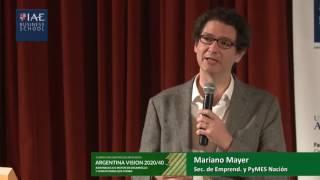 Mariano Mayer,  Argentina Visión 20/40, Agronegocios.
