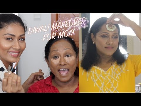 GIVING MY MOM A DIWALI MAKEOVER!! | OUTFIT IDEAS FOR MOM THIS DIWALI |Bosslady Shruti