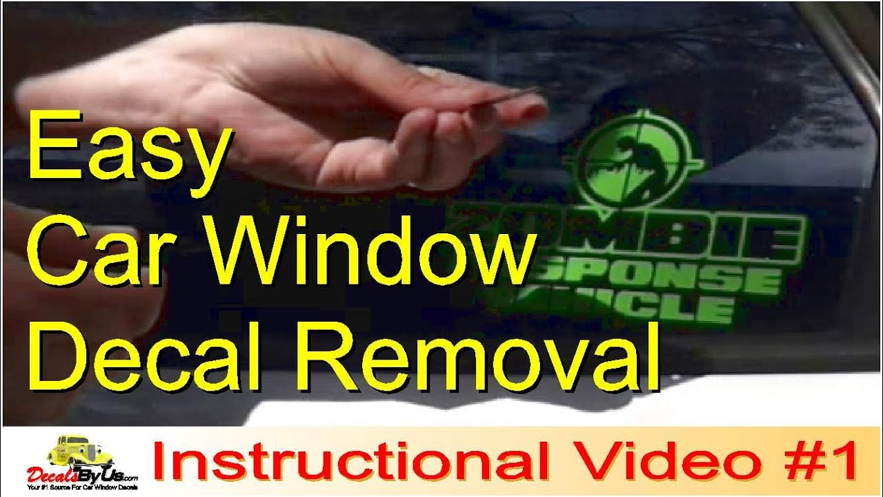 How To Remove Car Window Decals - YouTube