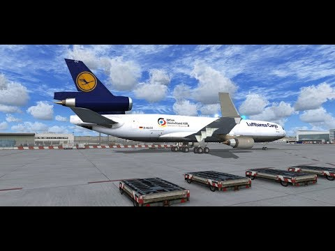 Lufthansa Cargo real Ops | Frankfurt to Dakar | MD-11F | FSX | start