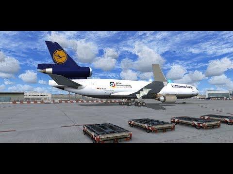 Lufthansa Cargo real Ops | Frankfurt to Dakar | MD-11F | FSX | start