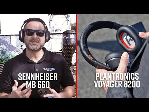 Sennheiser MB 660 and Plantronics Voyager 8200 - Mic Test!