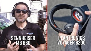 Sennheiser MB 660 and Plantron…