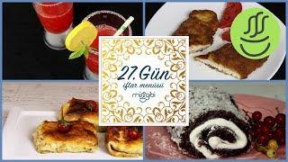 Ramazan 27. Gün İftar Menüsü: Sinitzel - Sebzeli Krep - Karpuzlu Limonata - Sultan Sarması