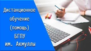 БГПУ им  Акмуллы: дистанционное обучение, личный кабинет, тесты