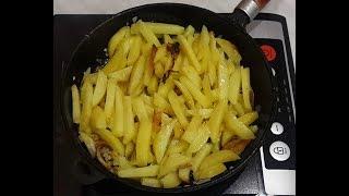 ✅  Моя любимая #жареная #картошка с луком