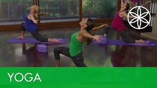 Prenatal Yoga Workout with Desi Bartlett Trailer   Yoga   Gaiam