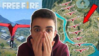 CRUZO el MAPA SIN TOCAR el SUELO con PLANEADOR en FREE FIRE!! - Jonbtc