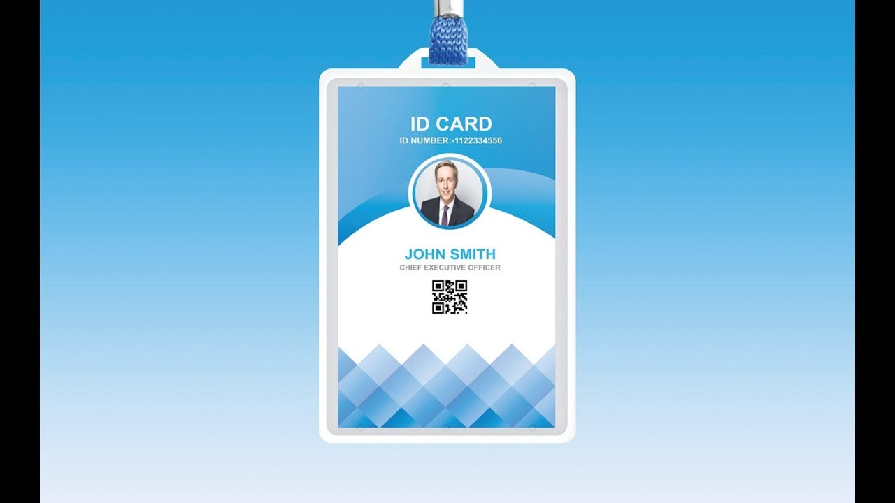 How To Design Identity Card Illustrator Tutorial YouTube