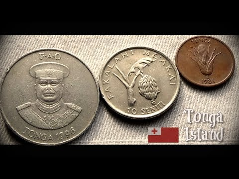 Coin collection | Tonga ( South Pacific islands )| 3 coins ( Seniti ) from 1981