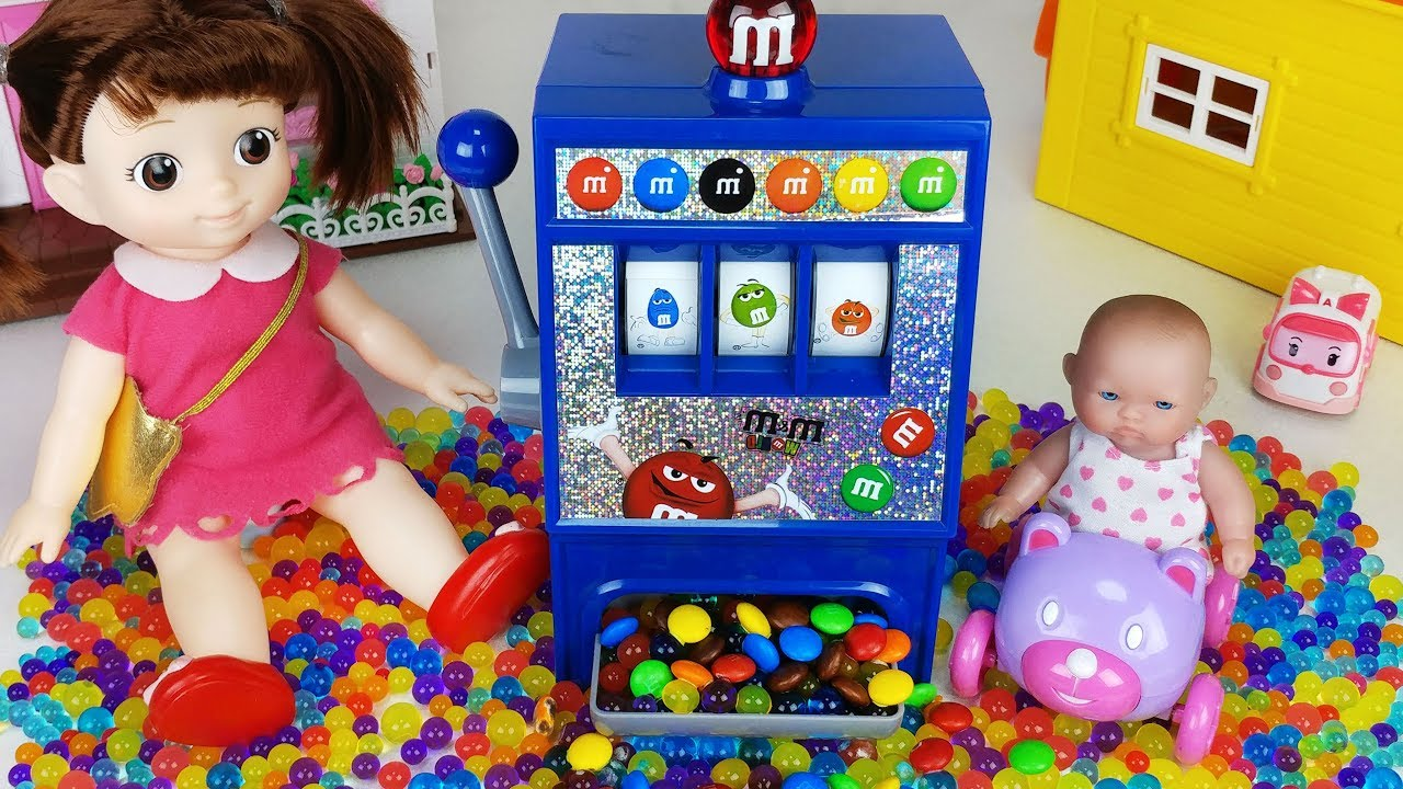 Baby Doll And M Ms Candy Dispenser Slot Machine Toys