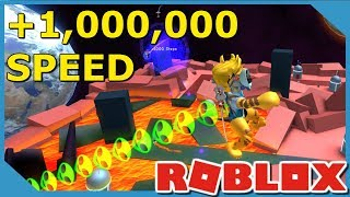 1,000,000 SPEED RACE CHALLENGE IN ROBLOX SPEED SIMULATOR *Faster Than Flash*