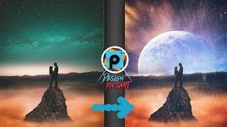 picsart tutorial Easy manipulation moon