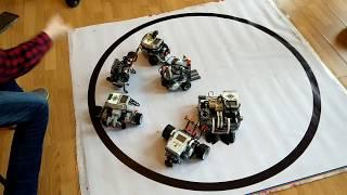 Управляемое Робо-сумо.  3х3. 1раунд