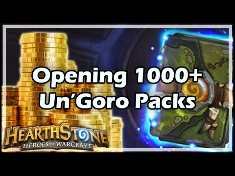 [Hearthstone] Opening 1000+ Un'Goro Packs